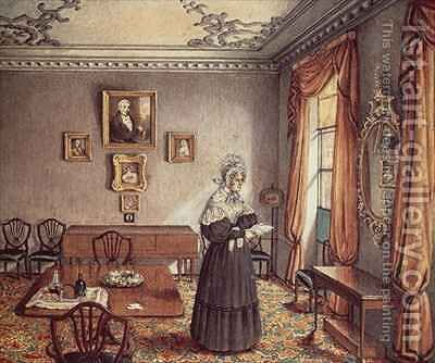 Mrs Duffin's dining room at York by Mary Ellen Best - Reproduction Oil Painting