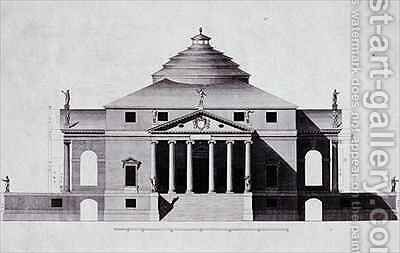 Design by Andrea Palladio 3 by (after) Bertotti-Scamozzi, Ottavio - Reproduction Oil Painting