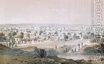 Kano, Nigeria, in 1851, from 'Travels and Discoveries in North and Central Africa' by (after) Bernatz, Johann Martin - Reproduction Oil Painting