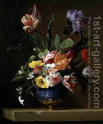 Still Life of Flowers by Jacques Samuel Bernard - Reproduction Oil Painting