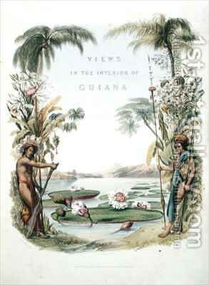 Frontispiece to 'Views in the Interior of Guiana' by (after) Bentley, Charles - Reproduction Oil Painting