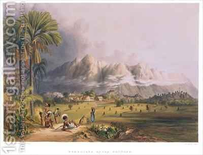 Esmeralda, on the Orinoco, site of a Spanish Mission, from 'Views in the Interior of Guiana' by (after) Bentley, Charles - Reproduction Oil Painting