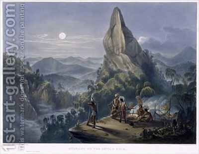 Ataraipu or the Devil's Rock by (after) Bentley, Charles - Reproduction Oil Painting