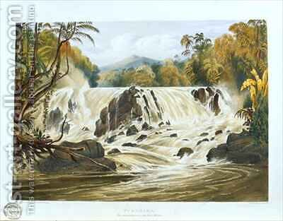 Purumama, the great cataract of the River Parima by (after) Bentley, Charles - Reproduction Oil Painting