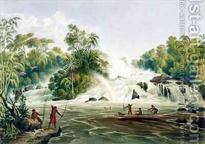 Junction of the Kundanama with the Paramu by (after) Bentley, Charles - Reproduction Oil Painting