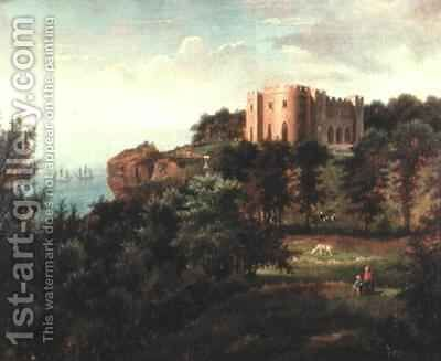 Pennsylvania Castle, Isle of Portland, Dorset by Edmund Birckhead Bensell - Reproduction Oil Painting