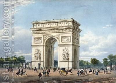 The Arc de Triomphe and the Place de l'Etoile by (after) Benoist, Philippe - Reproduction Oil Painting