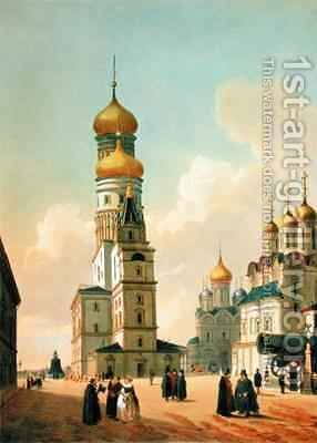 Ivan the Great Bell Tower in the Moscow Kremlin by (after) Benoist, Felix - Reproduction Oil Painting