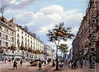 The Boulevard des Italiens by (after) Benoist, Felix - Reproduction Oil Painting