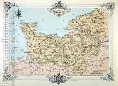 Map of Normandy by (after) Benoist, Felix - Reproduction Oil Painting