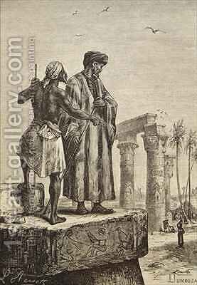 Ibn Battuta in Egypt by Hippolyte Leon Benett - Reproduction Oil Painting