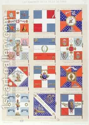 Flags of the various Districts of Paris by Benard - Reproduction Oil Painting