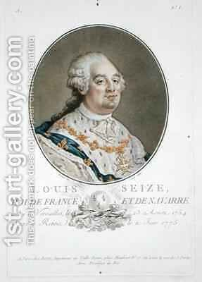 Portrait of Louis XVI (1754-93) by (after) Benard - Reproduction Oil Painting
