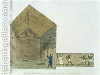 The Great Chamber in the second pyramid of Ghizeh by (after) Belzoni, Giovanni Battista - Reproduction Oil Painting