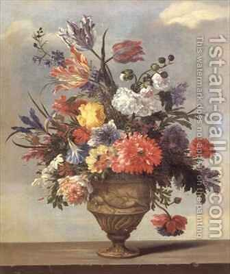 A Still Life of Flowers by Jean Baptiste Belin de Fontenay - Reproduction Oil Painting