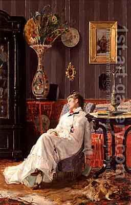 Rest by Adolfo Belimbau - Reproduction Oil Painting