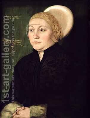 Portrait of Magdalena Neudorffer (1487-c.1544) by Barthel Beham - Reproduction Oil Painting