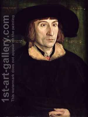 Portrait of Johann Neudorffer (1497-1563) by Barthel Beham - Reproduction Oil Painting