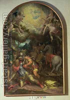 The Conversion of St. Paul by Girolamo Mazzola Bedoli - Reproduction Oil Painting