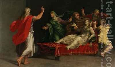 The Raising of Drusiana by Girolamo Mazzola Bedoli - Reproduction Oil Painting
