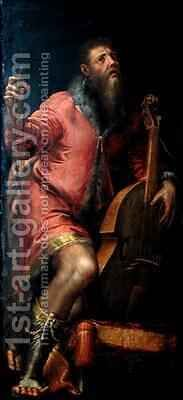 Cellist by Girolamo Mazzola Bedoli - Reproduction Oil Painting