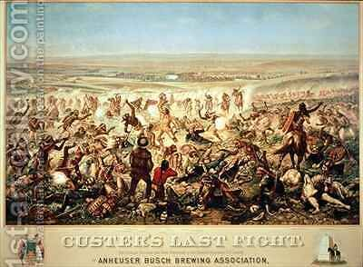 Custer's Last Fight by (after) Becker, Otto - Reproduction Oil Painting