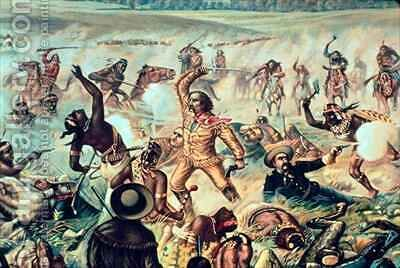 Custer's Last Fight 2 by (after) Becker, Otto - Reproduction Oil Painting