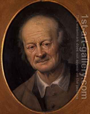 Portrait of an old man by Jacob Samuel Beck - Reproduction Oil Painting