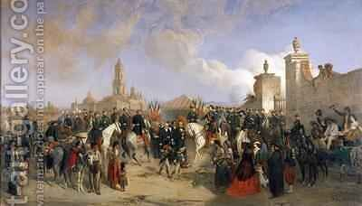 Entrance of the French Expeditionary Corps into Mexico City by Jean Adolphe Beauce - Reproduction Oil Painting