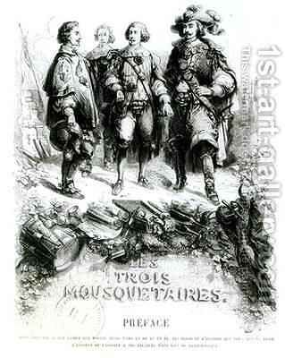 Preface to 'Les Trois Mousquetaires' (The Three Musketeers) by (after) Beauce, Jean Adolphe - Reproduction Oil Painting