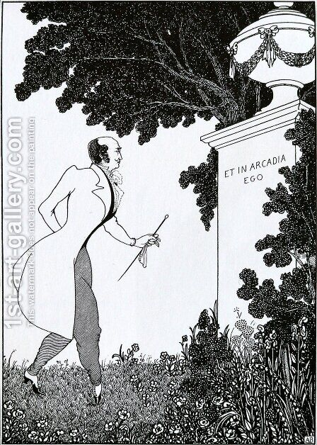 Et in Arcadio Ego by Aubrey Vincent Beardsley - Reproduction Oil Painting