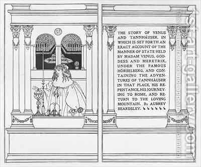 Titlepage from 'The Story of Venus and Tannhauser' by Aubrey Vincent Beardsley - Reproduction Oil Painting