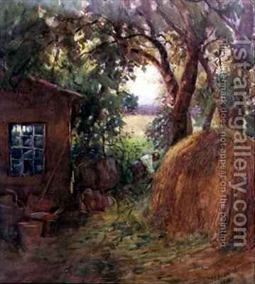 Corner of a rickyard by Janie E. Beamish - Reproduction Oil Painting