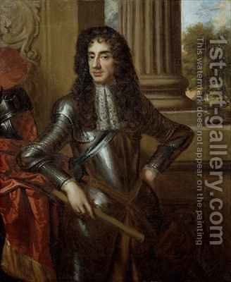 Portrait of King Charles II (1630-85) after Sir Peter Lely (1618-80) by Mary Beale - Reproduction Oil Painting