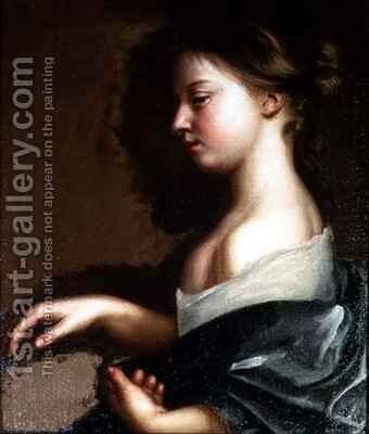 Portrait of a young girl by Mary Beale - Reproduction Oil Painting