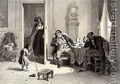 The Sale of Little Henry, plate 2 from 'Uncle Tom's Cabin' by (after) Bayot, Adolphe Jean-Baptiste - Reproduction Oil Painting
