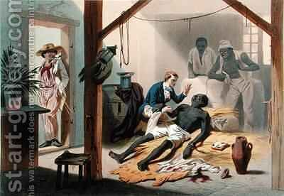 The Death of Uncle Tom, plate 11 from 'Uncle Tom's Cabin' by (after) Bayot, Adolphe Jean-Baptiste - Reproduction Oil Painting