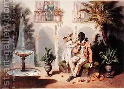 Tom and Evangeline, plate 5 from 'Uncle Tom's Cabin' 2 by (after) Bayot, Adolphe Jean-Baptiste - Reproduction Oil Painting