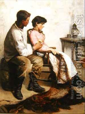 Courtship by Arthur Bateman - Reproduction Oil Painting