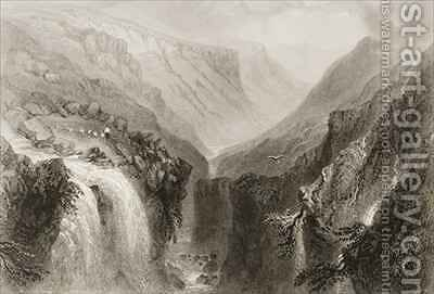 Head of Glenmalure, County Wicklow by (after) Bartlett, William Henry - Reproduction Oil Painting