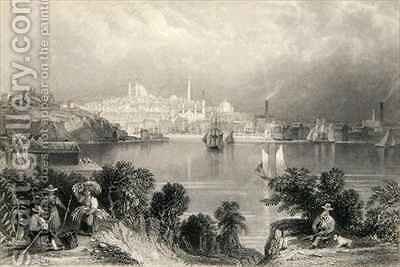 A View of Baltimore, from 'The History of the United States' by (after) Bartlett, William Henry - Reproduction Oil Painting
