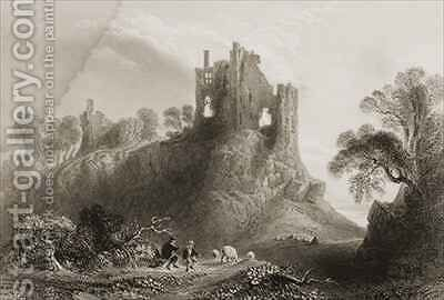 Carrigogunnell Castle, Near Limerick, County Limerick, Ireland by (after) Bartlett, William Henry - Reproduction Oil Painting
