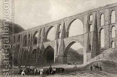 Aqueduct of the Emperor Valens, near Pyrgo, Turkey by (after) Bartlett, William Henry - Reproduction Oil Painting