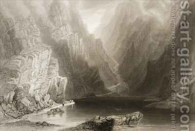 The Gap of Dunloe, County Killarney, Ireland by (after) Bartlett, William Henry - Reproduction Oil Painting