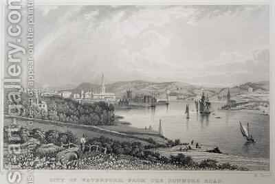 View of Waterford from The Dunmore Road, Ireland by (after) Bartlett, William Henry - Reproduction Oil Painting