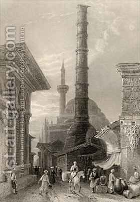 The Tchernberle Tash, Constantinople, Istanbul, Turkey by (after) Bartlett, William Henry - Reproduction Oil Painting