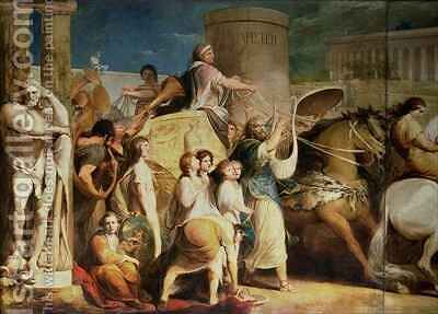 Crowning the Victors at Olympia, third in the series 'The Progress of Human Culture and Knowledge' 2 by James Barry - Reproduction Oil Painting
