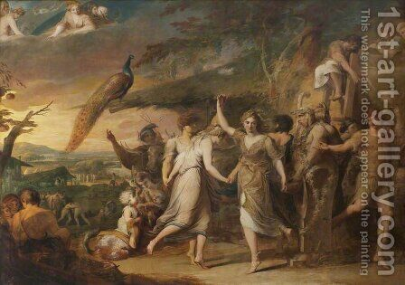 A Grecian Harvest Home, or Thanksgiving to the Rural Deities, Ceres, Bacchus Sylvanus and Pan, second in the series 'The Progress of Human Culture and Knowledge' by James Barry - Reproduction Oil Painting