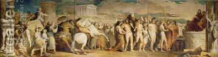 Crowning the Victors at Olympia, third in the series 'The Progress of Human Culture and Knowledge' 3 by James Barry - Reproduction Oil Painting
