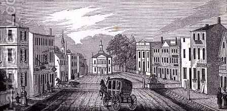 Southern view in the central part of Salem by (after) Barber, John Warner - Reproduction Oil Painting